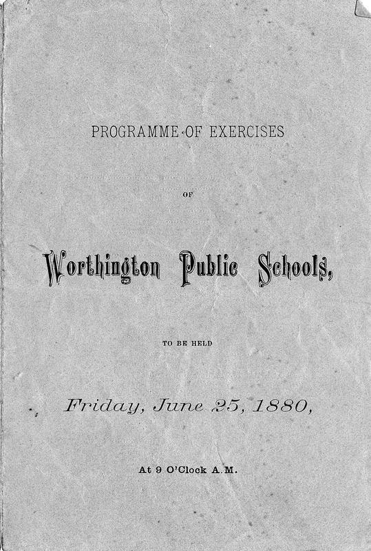 First commencement program of Worthington Public Schools